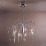 Arcade lampadario 7 luci cristallo/cromato.60